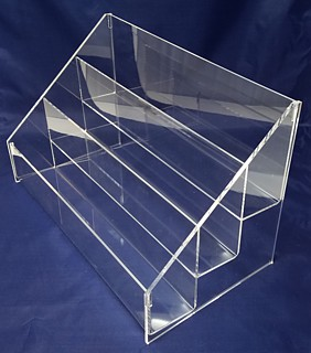 Clear Acrylic Tiered Stepped Display Shelf or Rack