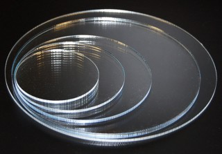 Clear Acrylic Circles and Lucite Discs