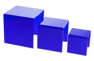 Colored Acrylic Risers in Blue, Red, Green, Yellow, Black, White and Pink