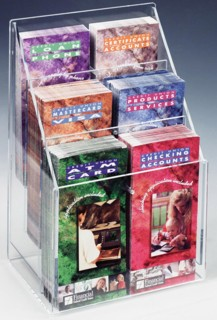 Multiple Pocket Countertop and Wallmount Literature Holders