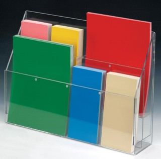 Adjustable Pocket Magazine and Literature Brochure Holders