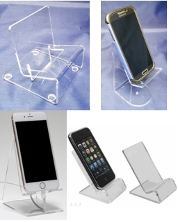 Acrylic Easels for cellphones, smart phones, tablets and other electronic devices