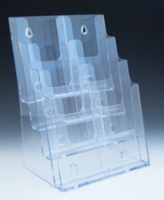 CH4x8.5 Multiple Pocket Acrylic and Plastic Brochure and Literature Holders, Plexi, plexiglass, plexiglas, lucite