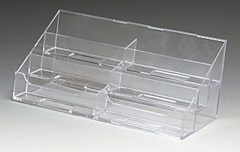 Multiple Pocket Countertop Business Card Holders in Acrylic, Plexiglas, Plexiglass, Lucite, Plastic