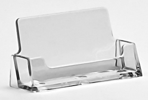 Countertop and Wallmount Business Card Holders in Acrylic, Plexiglas, Plexiglass, Lucite, Plastic