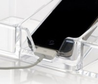 ECS1 Clear Acrylic Electronics Docking and Charging Station
