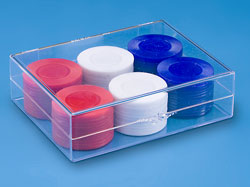 Plastic Boxes, Conatiners, Hinged Displays