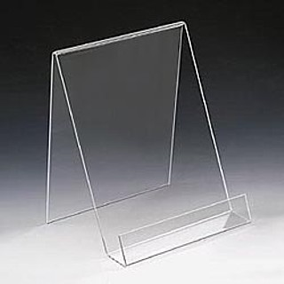 Acrylic Easels and Easel displays, J-stands, Plexiglas, Plexiglass, plexi, Lucite and Plastic