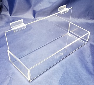 Clear Acrylic Wallmount and Slatwall J Rack Shelves card Racks