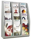 Multiple Pocket Magazine and Literature Brochure Racks
