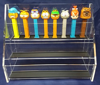 Clear Acrylic Tiered PEZ Dispenser Display Shelf