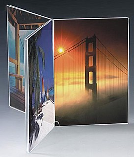 Countertop Multi-Panel Acrylic Sign Holders and Plexi Display Frames
