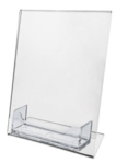 Acrylic Sign Holder Frame with Business Card Holder