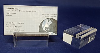 Clear Acrylic Sign Block, Price Ticket Holder