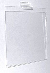 Clear acrylic slatwall sign holder frames and wallmount slotwall signholders, plexi, plexiglass, Plexiglas, lucite