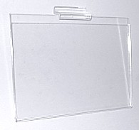 Clear acrylic slatwall and slotwall sign holder frames