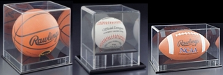 SPC3-DLX Clear Acrylic Basketball and Soccer Ball Display Showcase for Display of Collectible Sports Memorabilia