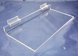 Clear Acrylic Slatwall Shelves