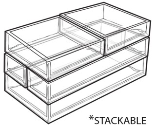 Clear Molded Styrene Stackable Trays