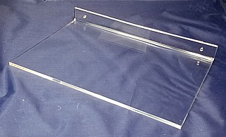Clear Acrylic Wallmount Plexi Shelf with Holes for Mounting