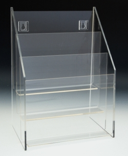 TH3x8.5 Multiple Pocket Acrylic and Plastic Brochure and Literature Holders, Plexi, plexiglass, plexiglas, lucite