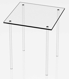 Clear Acrylic Square Table Riser Pedestals