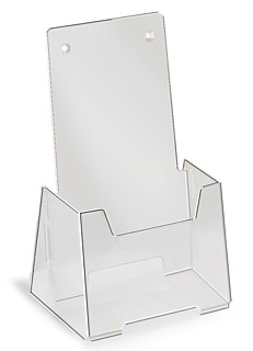 Frosted Ship Flat Fold Up Countertop or Wallmount Brochure Literature Holder Model VFH4-F