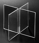 8 sided Clear Acrylic Frames in Plexi, Plexiglas, Plexiglass, Lucite and Plastic